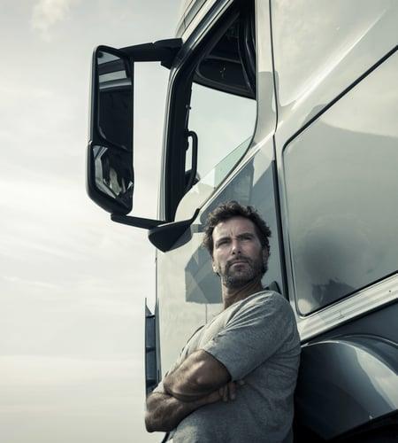 Man guarding his truck-1